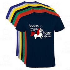 Camiseta Unicornio Horny Ponies San Valentin Divertida hombre tallas y colores