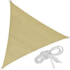 Voile d'ombrage triangle protection UV solaire toile tendue parasol 6,2x6,2x6,2m