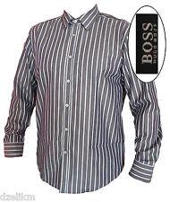 NWT Hugo Boss Black Label Contemporary Cotton Sport Stripes Shirt Size XL