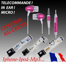 Kit Pieton in ear couleur  inear iPhone 5 5s 5g 4 4g 4s  écouteur