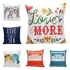Vintage Linen Cotton Cushion Throw Pillow Covers 45cm x 45cm 100% Oz Seller