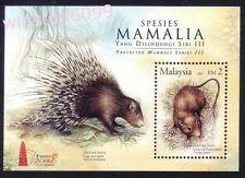 2005 Malaysia Protected Mammals Overprint Taipei Stamp Expo Mini-Sheet Mint NH