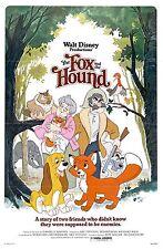 THE FOX AND THE HOUND DISNEY MOVIE POSTER FILM A4 A3 ART PRINT CINEMA VINTAGE