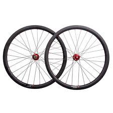 38mm Carbon Wheelset Disc Brake Clincher Road Bike 700C Novatec UD Matt Rim DT