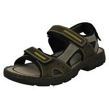 Uomo Rieker 26157 verde completo casual sandali con cinturino