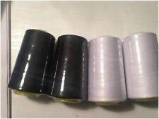 4/10 Overlocking Sewing Machine Industrial Polyester Thread 5000 Yrd Black/White