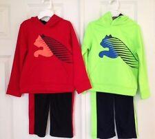 PUMA NWT Boys 2PC Track Suit Shirt Pants Top Warm Up Hoodie Sweatshirt  4 5 6 7