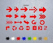 STICKER PEGATINA DECAL VINYL AUTOCOLLANT AUFKLEBER Indicative Arrows