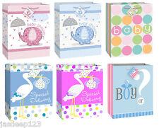 grande regalo per Baby Shower Sacchetti di carta rosa o blu ragazzo MODELLI