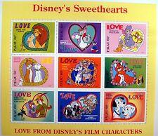 DISNEY STAMPS PALAU DISNEY'S SWEETHEARTS STAMP SHEET MNH 1996 101 DALMATIANS