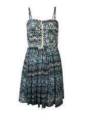 Guess Women's Sweetheart Zip Printed Chiffon Dress