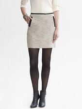 BANANA REPUBLIC Piped Metallic Mini Skirt Size 14 NWT Gold Color