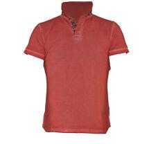uomo maglietta t-shirt polo canottiera colletto camicia a maniche corte A810