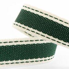 Full Roll 10m Sadle Stitch Cotton Twill Ribbon - Bottle Green - Crafts - Sewing