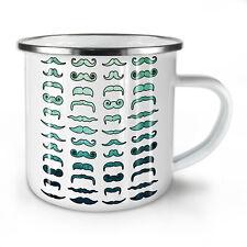 Mustache Stylish Fashion NEW Enamel Tea Mug 10 oz | Wellcoda