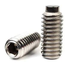 Socket Set Grub Screw Half Dog Point 18-8 Stainless Steel Screws #6-32 - QTY 100