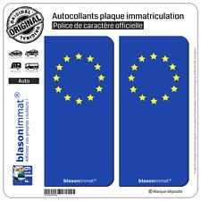 2 Stickers autocollant plaque immatriculation : Incognito  Européen (Côté Droit)
