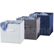 Fabric Storage Box Multipurpose Folding Square Basket Cube Utility Organizer Bag