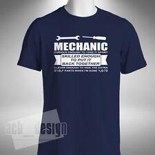 Mechanic Mens T-Shirt Curious Enough To Take It Apart Funny Mechanic Technician