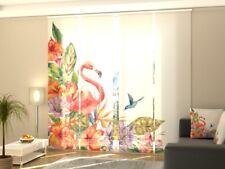 """Fotogardine """"Flamingo"""" Schiebevorhang Schiebegardine Vorhang Gardine, Auf Maß"""