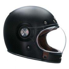 *SALE* BELL BULLITT FULL MATT CARBON FIBRE MOTORCYCLE CAFE RACER CRASH HELMET