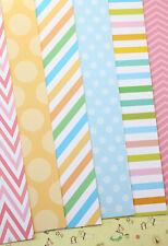 Candy Art Mix printed Card Stock 250gsm Chevron Stripes wedding craft postcards