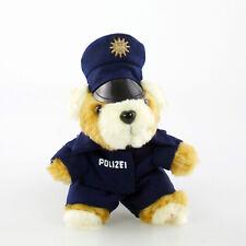 Polizei Teddy Schlüsselanhänger mit blauer, runder Mütze (wahlweise als Set)