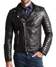 Men's Stylish Motorcycle Biker Genuine Lambskin Nappa Leather Jacket Mj 73
