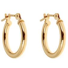 0e0b5e8da 14K Yellow or White Gold Tubular Shiny Round Hoops Hoop Earrings (12,14,