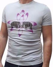Armani Jeans Mens Light Blue/Purple H/S Tshirt - Sz XXL / EU 54 / UK 44 BNWT