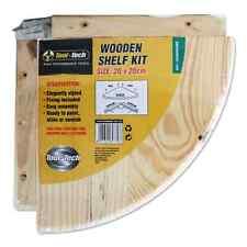 WOOD WOODEN PINE NATURAL CORNER UNIT SHELF WALL MOUNTED SHELF KIT STROAGE SHELF.