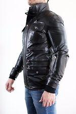 ★Giacca Giubbotto Uomo in di PELLE 100% Men Leather Jacket Veste Homme Cuir e2ae