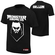 """WWE Braun Strowman """"Monster Among Us"""" Authentic T-Shirt *NEU* Official Shirt"""