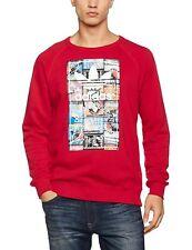 Hombre Nuevo logotipo de Adidas Originals Suéter Sudadera Jumper Pullover Top-Rojo