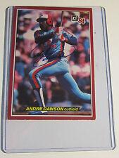 "ANDRE DAWSON AUTOGRAPH LARGE BASEBALL CARD  5"" X 3 1/2"""