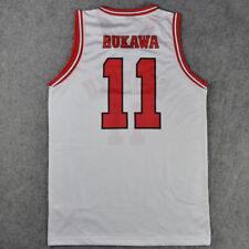 SLAMDUNK SLAM DUNK Shohoku Basketball #11 Kaede Rukawa White Jersey shirt