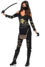 Sexy Leg Avenue womens catsuit black ninja costume