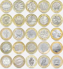 RARO UK £ 2 monete, moneta circolata vari disegni da collezione