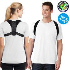 Black Unisex Women Men Body Wellness Back Posture Corrector Adjustable Belt New