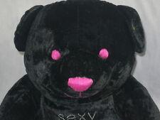 VICTORIA'S SECRET LIMITED EDITION SEXY LITTLE BEAR BLACK PINK PLUSH STUFFED TOY