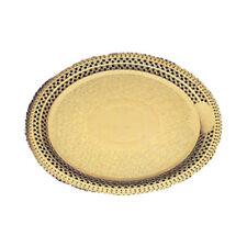 "Novacart Gold lace cake board, Round. Inside 6-1/8,"" Outside 7-7/8"""