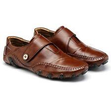 Men's Spring Autumn Soft Leather Casual Driving Boat Shoes Moccasins Unique xiem