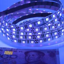 5m Flexible UV 3528 5050 395nm SMD Purple LED Strip black Light Waterproof 12V