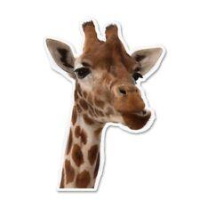Giraffe Head Car Vinyl Sticker - SELECT SIZE