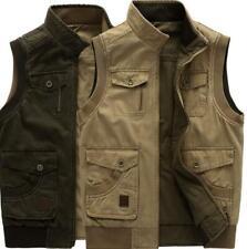 Men's Denim Cotton Sleeveless Outwear Stylish Casual Waistcoat Vest Jacket Tops