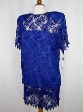 JASDEE Vintage Short Dress Short Sleeve Hand Work Bead&Squins on Lace Style 2043