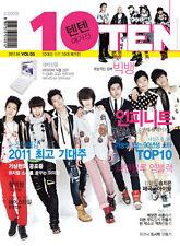 TENTEN 10TEN BIGBANG INFINITE MBLAQ CNBLUE MAGAZINE 2011 APR NEW