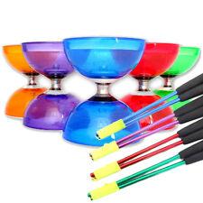 Quartz Cyclone Triple Bearing Diabolo & Coloured Metal Sticks - Choice of Colour
