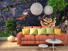 3D Cliff gecko, mushroom 966 Wall Paper Wall Print Decal Wall Deco Aj Wallpaper