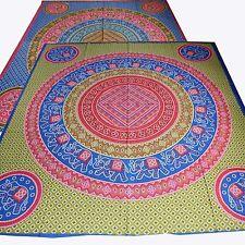 couvre-lit couverture tissu déco coton drap Rajasthan jeté SITA Multicolore DB